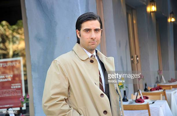 Jason Schwartzman on location for Bored to Death on April 29 2010 in New York City
