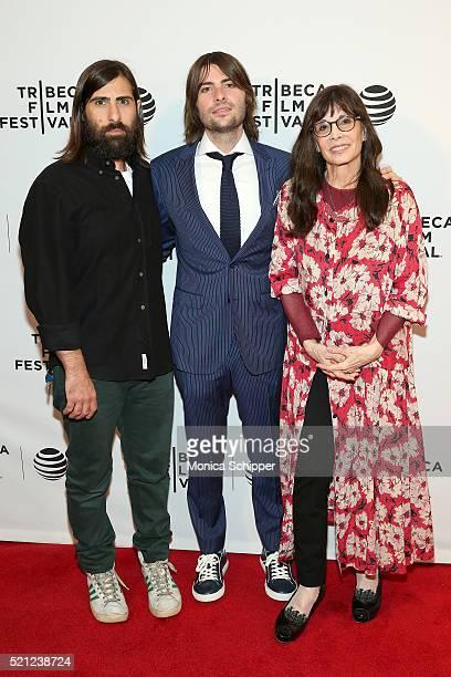 "Jason Schwartzman, Robert Coppola Schwartzman and Talia Shire attend ""Dreamland"" Premiere - 2016 Tribeca Film Festival at Chelsea Bow Tie Cinemas on..."