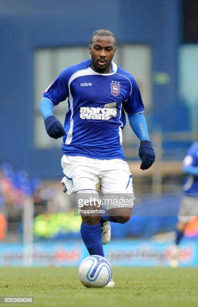 Jason Scotland of Ipswich Town in action during the npower Championship match between Ipswich Town and Swansea City at Portman Road in Ipswich on...