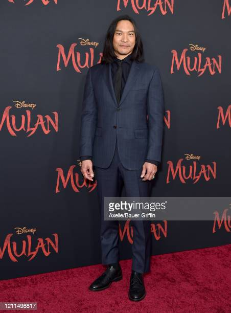 Jason Scott Lee attends the premiere of Disney's Mulan on March 09 2020 in Hollywood California