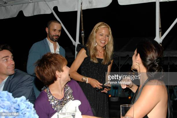 Jason Seahorn Alex Malgouyres Lori Goldstein Rachel Zoe and Angie Harmon attend QVC Style Dinner at Private Residence on July 31 2009 in East Hampton...