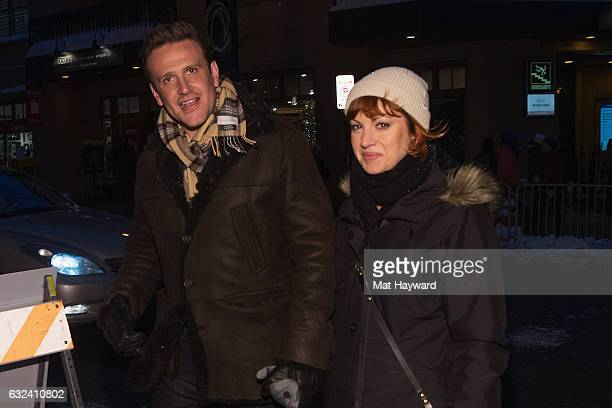 Jason Segal and Alexis Mixter are seen at the Sundance Film Festival on January 21 2017 in Park City Utah