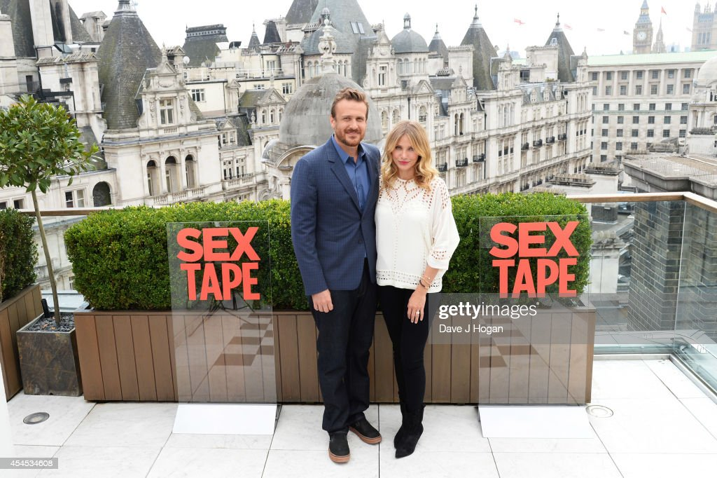 Jason Segal and Cameron Diaz attend a photocall for 'Sex Tape' at The Corinthia Hotel on September 3, 2014 in London, England.