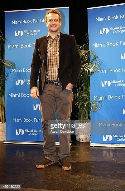 Jason Segal Debuts His Book Nightmares At Miami International Book Fair at Miami Dade College on November 22 2014 in Miami Florida