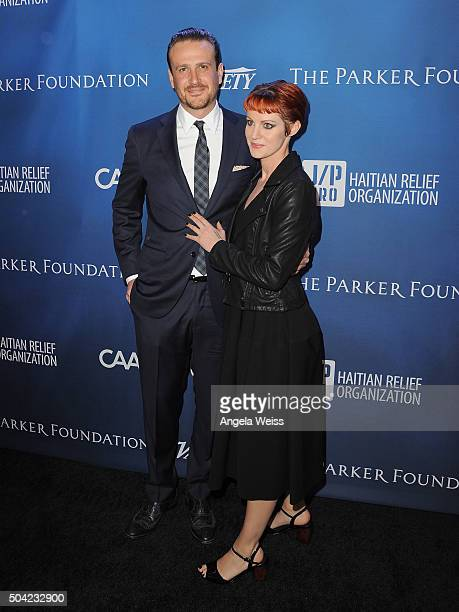 Jason Segel and Alexis Mixter attend the 5th Annual Sean Penn Friends HELP HAITI HOME Gala benefiting J/P Haitian Relief Organization at Montage...