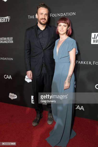 Jason Segel and Alexis Mixter attend the SEAN PENN J/P HRO GALA A Gala Dinner to Benefit J/P Haitian Relief Organization and a Coalition of Disaster...