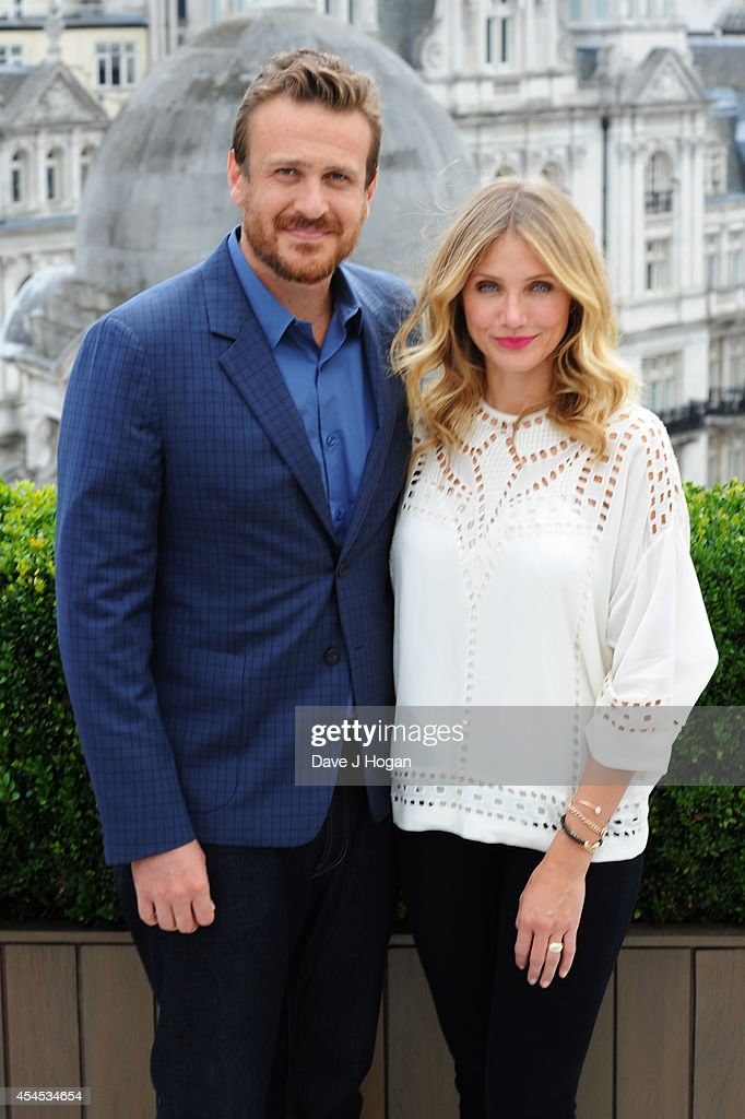 Jason Segel and Cameron Diaz attend a photocall for 'Sex Tape' at The Corinthia Hotel on September 3, 2014 in London, England.