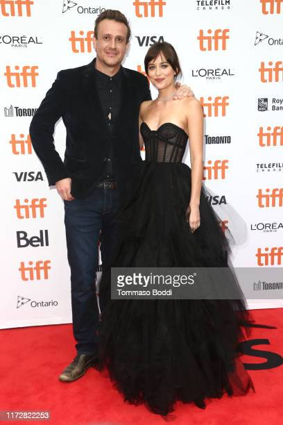 Jason Segel and Dakota Johnson attend The Friend premiere during the 2019 Toronto International Film Festival at Princess of Wales Theatre on...