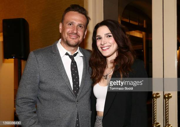 Jason Segel and Eve Lindley attend the AMC Networks Evening Event of the Winter 2020 TCA Press Tour on January 16 2020 in Pasadena California