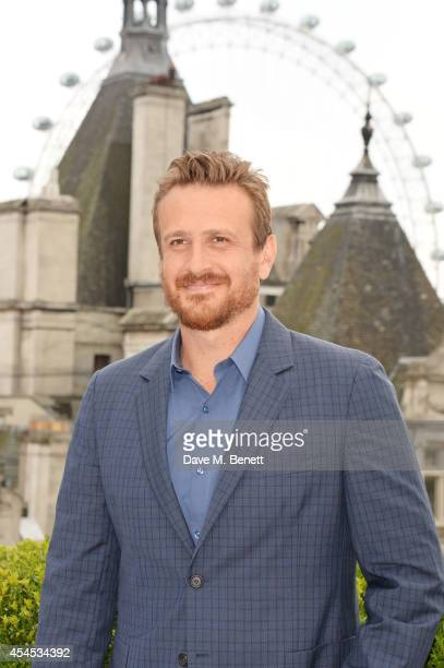 Jason Segel attends a photocall for 'Sex Tape' at the Corinthia Hotel London on September 3 2014 in London England