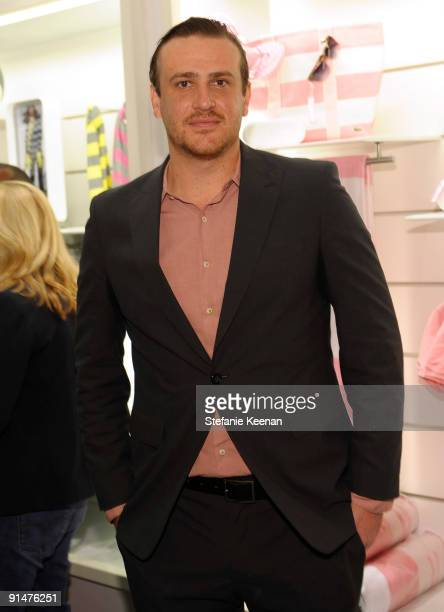 Jason Segel attends the launch of the 2009 Pink Croc Collection to benefit the Breast Cancer Research Foundation held at the Lacoste Boutique on...