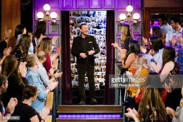 Jason Segel greets the audience during 'The Late Late Show with James Corden' Monday November 13 2017 On The CBS Television Network