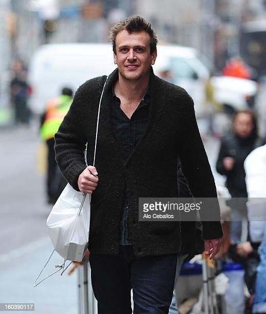 Jason Segel is seen in Soho on January 30 2013 in New York City