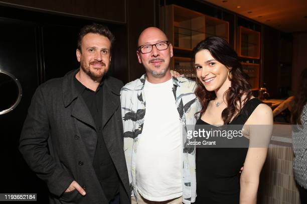 Jason Segel Jeff Hull and Eve Lindley attend the Dispatches from Elsewhere Tastemaker event on December 12 2019 in Los Angeles California