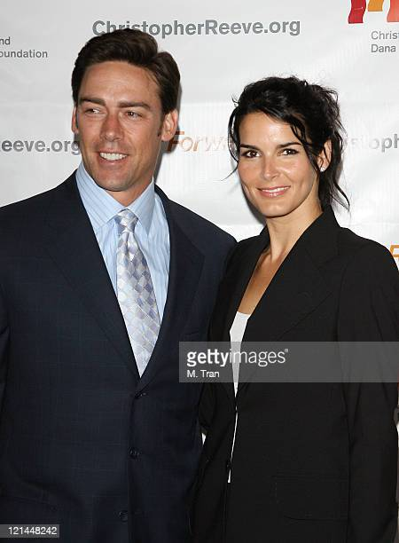 Jason Sehorn and Angie Harmon during 3rd Annual Los Angeles Gala for the Christopher and Dana Reeve Foundation at Century Plaza Hotel in Century City...