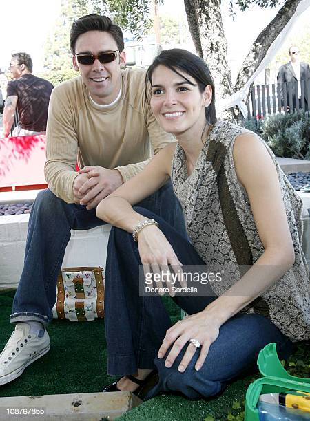 Jason Sehorn and Angie Harmon during 5th Annual John Varvatos Stuart House Benefit Presented by Converse at John Varvatos Boutique in Los Angeles...