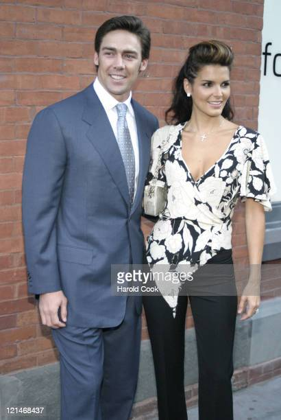 Jason Sehorn and Angie Harmon during FCUK I'm Voting Party at the GOP Convention at French Connection Soho in New York City New York United States