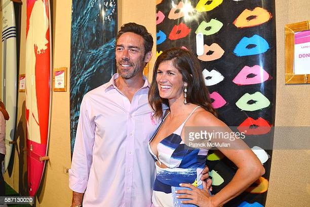 Jason Sehorn and Meghann Gunderman attend the 2016 Hamptons Paddle Party for Pink Benefiting the Breast Cancer Research Foundation at Fairview on...