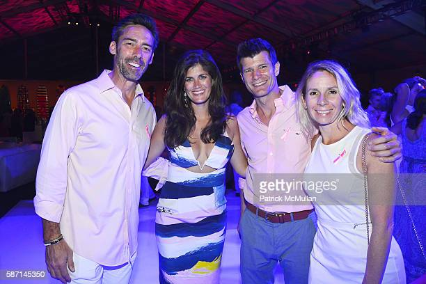 Jason Sehorn Meghann Gunderman Sean Atterbury and Melissa Atterbury attend the 2016 Hamptons Paddle Party for Pink Benefiting the Breast Cancer...