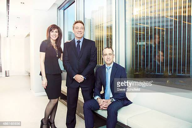 Jason Sloane Kevin Huvane Aleen Keshishian are photographed for The Hollywood Reporter on October 16 2013 in Los Angeles California PUBLISHED IMAGE