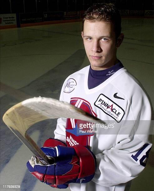 Jason Spezza during Portrait Session with Ottawa Senators forward Jason Spezza March 8 2001 at Windsor Arena in Windsor Ontario Canada