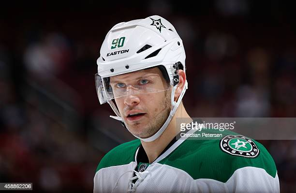 Jason Spezza of the Dallas Stars during the NHL game against the Arizona Coyotes at Gila River Arena on November 11 2014 in Glendale Arizona The...
