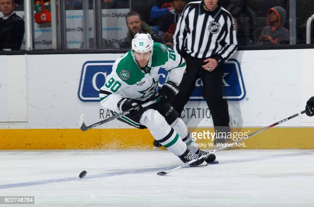 Jason Spezza of the Dallas Stars skates after the puck against the San Jose Sharks at SAP Center on February 18 2018 in San Jose California