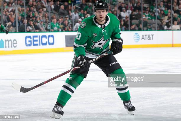 Jason Spezza of the Dallas Stars skates against the Los Angeles Kings at the American Airlines Center on January 30 2018 in Dallas Texas