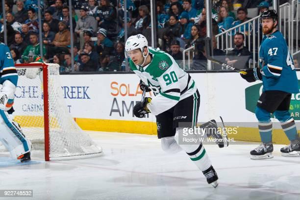 Jason Spezza of the Dallas Stars skates against the San Jose Sharks at SAP Center on February 18 2018 in San Jose California