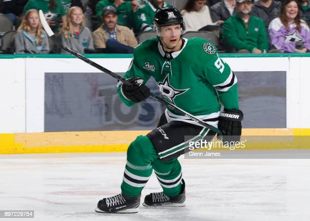 Jason Spezza of the Dallas Stars skates against the Washington Capitals at the American Airlines Center on December 19 2017 in Dallas Texas