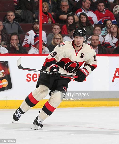 Jason Spezza of the Ottawa Senators skates against the Montreal Canadiens at Canadian Tire Centre on April 4 2014 in Ottawa Ontario Canada