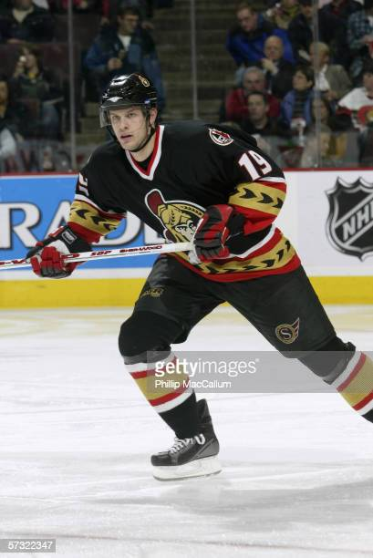 Jason Spezza of the Ottawa Senators skates during the game against the Washington Capitals on April 1, 2006 at the Scotiabank Place in Ottawa,...