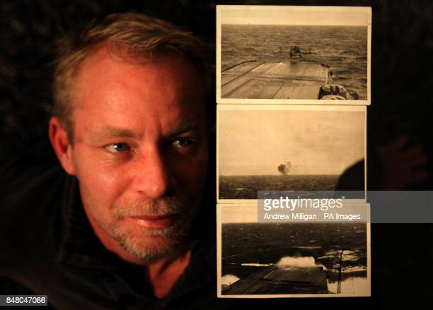 Jason Spurr with three photographs First off for Bismarck Victorious Torpedo Hits Bismarck and Slight Swell North AtlanticTaken During Chase in Alva