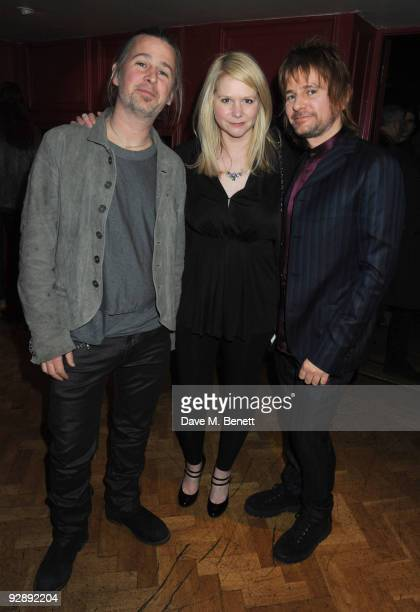 Jason Starkey, Lee Starkey and Zak Starkey attend the launch of Liam Gallaghers clothing line, Pretty Green, at the Gore Hotel on November 7, 2009 in...