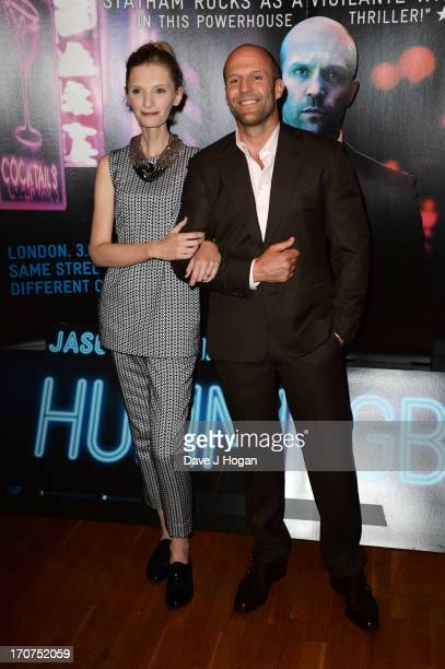 Jason Statham and Agata Buzek attend the UK premiere of 'Hummingbird' at The Odeon West End on June 17 2013 in London England