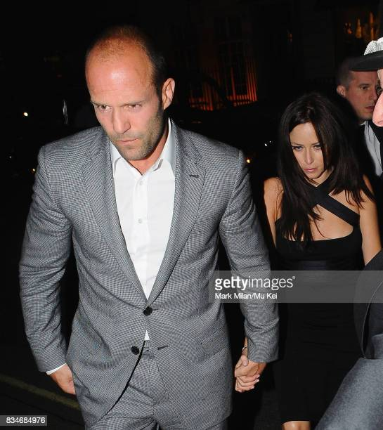 Jason Statham and Alex Zosman arrive at Claridges Hotel on September 08 2008 in London England