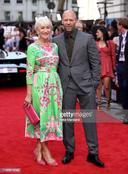 Jason Statham and Dame Helen Mirren attend the Fast Furious Hobbs Shaw Special Screening at The Curzon Mayfair on July 23 2019 in London England