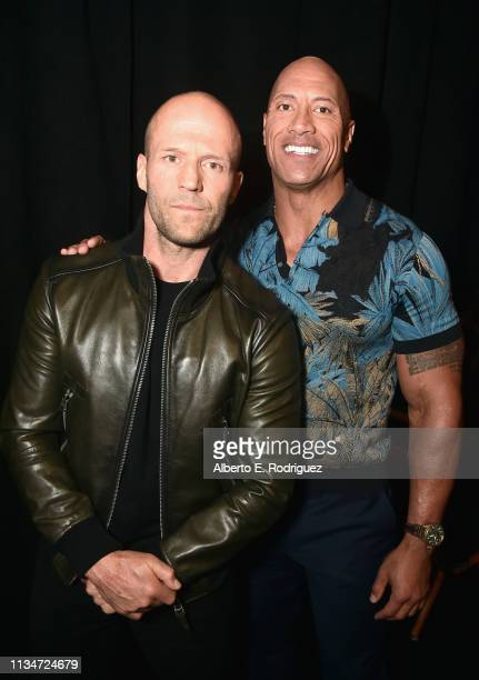 Jason Statham and Dwayne Johnson at CinemaCon 2019 Universal Pictures Invites You to a Special Presentation Featuring Footage from its Upcoming Slate...
