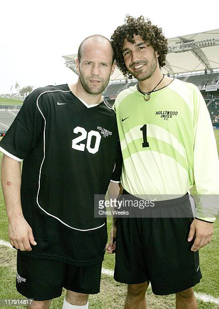 Jason Statham and Ethan Zohn during Hollywood United Celebrity Soccer Match Benefitting GrassRoots Soccer at Home Depot Center in Carson California...