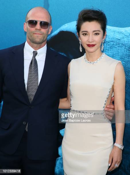 Jason Statham and Li BIngbing attend the premiere of Warner Bros Pictures and Gravity Pictures' Premiere of The Meg on August 06 2018 in Hollywood...
