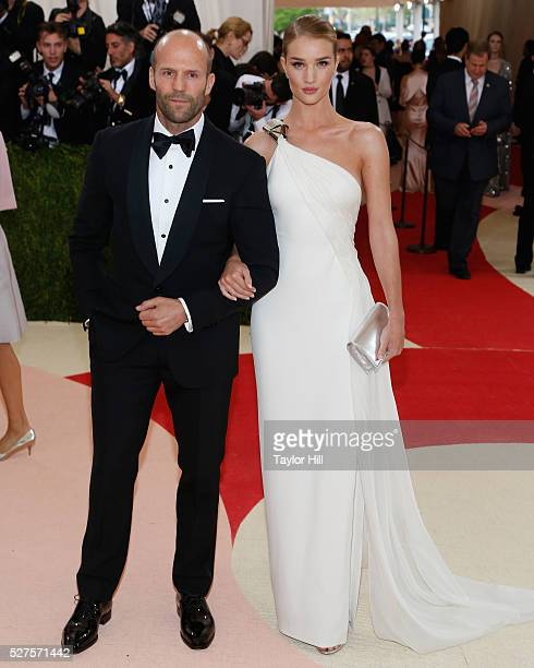 Jason Statham and Rosie HuntingtonWhiteley attend 'Manus x Machina Fashion in an Age of Technology' the 2016 Costume Institute Gala at the...