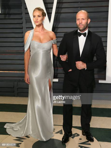 Jason Statham and Rosie HuntingtonWhiteley attend the 2017 Vanity Fair Oscar Party hosted by Graydon Carter at Wallis Annenberg Center for the...