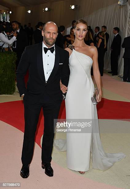 Jason Statham and Rosie Huntington-Whiteley attend the 'Manus x Machina: Fashion in an Age of Technology' Costume Institute Gala at the Metropolitan...