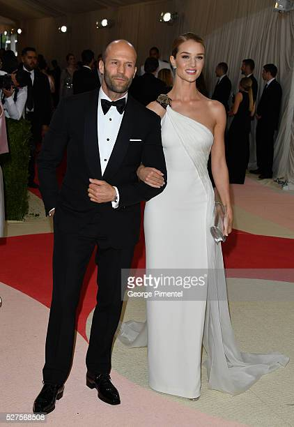 Jason Statham and Rosie Huntington-Whiteley attends the 'Manus x Machina: Fashion in an Age of Technology' Costume Institute Gala at the Metropolitan...
