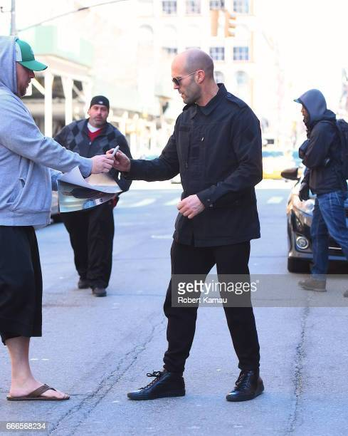 Jason Statham and Rosie HuntingtonWhiteley seen out in Manhattanon April 9 2017 in New York City