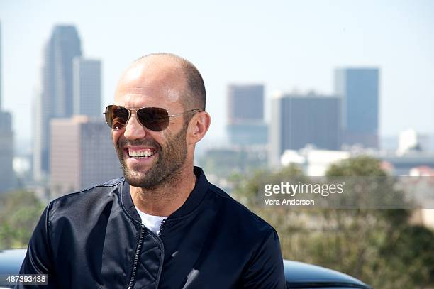 Jason Statham at the 'Furious 7' Press Conference at Dodger Stadium on March 23 2015 in Los Angeles California