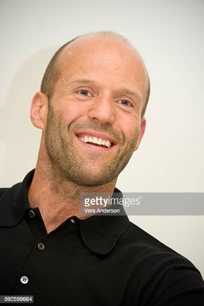 Jason Statham at the 'Mechanic Resurrection' press conference at the Four Seasons Hotel on August 19 2016 in Beverly Hills California