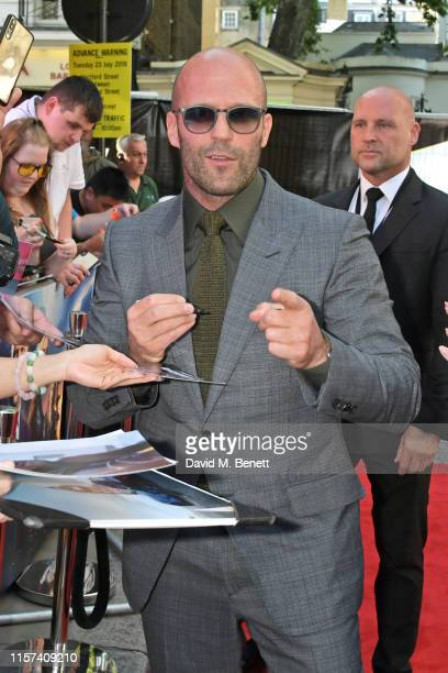 """Jason Statham attends a special screening of """"Fast & Furious: Hobbs & Shaw"""" at The Curzon Mayfair on July 23, 2019 in London, England."""