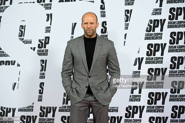 Jason Statham attends 'Spy Susan Cooper Undercover' Berlin Photocall at Hotel De Rome on May 26 2015 in Berlin Gemany