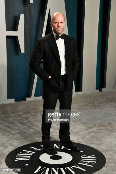 Jason Statham attends the 2020 Vanity Fair Oscar Party hosted by Radhika Jones at Wallis Annenberg Center for the Performing Arts on February 09 2020...
